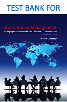 Test Bank for International Management: Managing Across Borders and Cultures 9th Edition