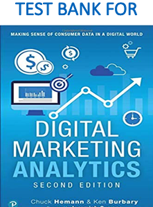 Test bank for Digital Marketing Analytics: Making Sense of Consumer Data in a Digital World, 2nd Edition
