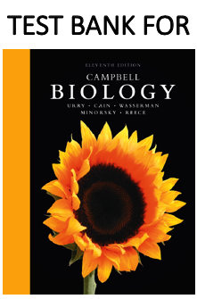 Test Bank for Campbell Biology 11th Edition book