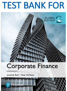 Test Bank for Corporate Finance 4th Global Edition Book
