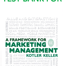 Test Bank for Framework for Marketing Management 6th Edition Book
