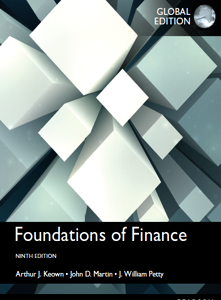 Foundations of Finance 9th Global Edition Book by Arthur J. Keown, John D. Martin, J. William Petty