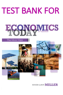 Test Bank for Economics Today The Micro View 17th Edition by Roger LeRoy Miller