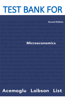Test Bank for Microeconomics 2nd Edition by Daron Acemoglu, David Laibson, John List