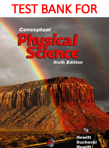 Test Bank for Conceptual Physical Science 6th Edition