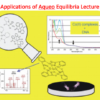 Applications of Aqueo Equilibria Lecture