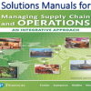 Solutions Manual for Managing Supply Chain and Operations An Integrative Approach 2nd Edition by S. Thomas Foster, Scott E. Sampson, Cynthia Wallin, Scott W. Webb