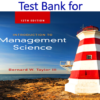 Test Bank for Introduction to Management Science 12th Edition by Bernard W. Taylor