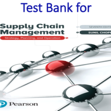 Test Bank for Supply Chain Management Strategy, Planning, and Operation 7th Edition