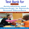 Test Bank for Articulation and Phonology in Speech Sound Disorders A Clinical Focus 5th Edition by Jacqueline Bauman-Waengler