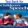 Test Bank for Children's Speech An Evidence-Based Approach to Assessment and Intervention by Sharynne McLeod, Elise Baker