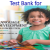 Test Bank for Language Development An Introduction 9th Edition by Robert E. Owens