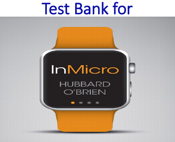 Test Bank for InMicro by R. Glenn Hubbard