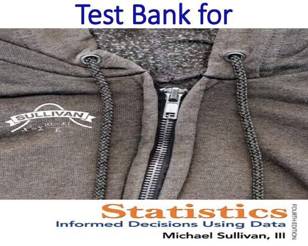 Test Bank for Statistics Informed Decisions Using Data 4th Edition by Michael Sullivan