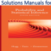 Solutions Manual for Probability and Statistical Inference 9th Edition by Robert V. Hogg, Elliot Tanis, Dale Zimmerman