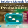 Solutions Manual for A First Course in Probability 10th Edition by Sheldon Ross