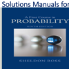 Solutions Manual for A First Course in Probability 9th Edition by Sheldon Ross
