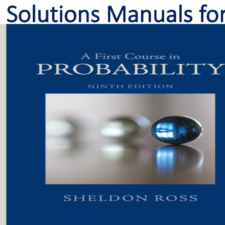 Solutions Manual for A First Course in Probability 9th Edition