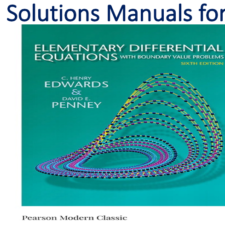 Solutions Manual for Elementary Differential Equations with Boundary Value Problems 6th Edition