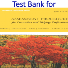 Test Bank for Assessment Procedures for Counselors and Helping Professionals 8th Edition