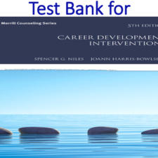 Test Bank for Career Development Interventions 5th Edition