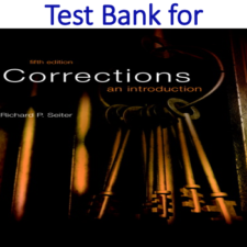 Test Bank for Corrections An Introduction 5th Edition
