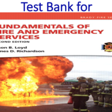 Test Bank for Fundamentals of Fire and Emergency Services 2nd Edition