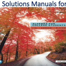 Solutions Manual for Algebra for College Students 9th Edition