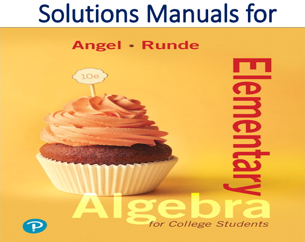 Solutions Manual for Elementary Algebra For College Students 10th Edition