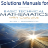 Solutions Manual for Basic Technical Mathematics with Calculus 10th Edition by Allyn J. Washington