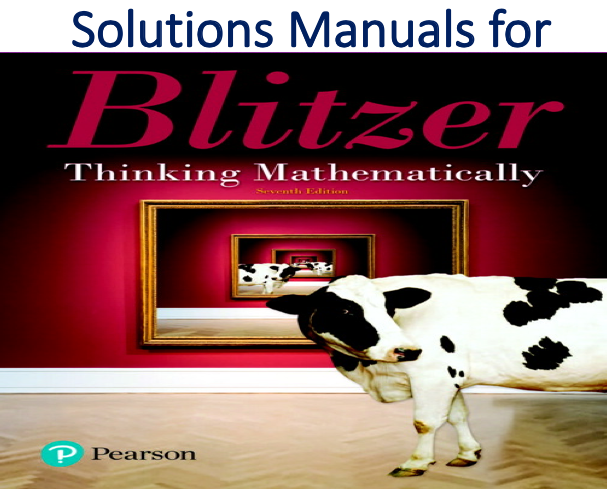 Solutions Manual for Thinking Mathematically 7th Edition