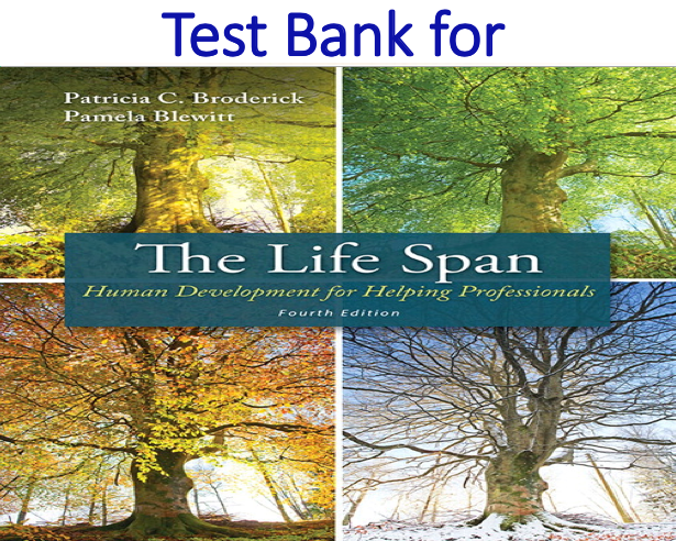 Test Bank for The Life Span Human Development for Helping Professionals 4th Edition