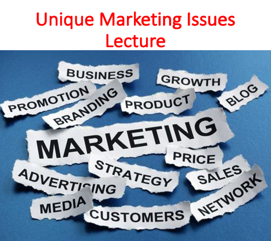 Unique Marketing Issues Lecture