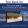 Test Bank for Algebra Foundations Basic Math Introductory and Intermediate Algebra by Marvin L. Bittinger, Judith A. Beecher
