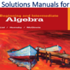 Solutions Manual for Beginning and Intermediate Algebra 6th Edition by Margaret L. Lial, John Hornsby, Terry McGinnis