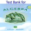 Test Bank for Elementary & Intermediate Algebra for College Students 4th Edition by Allen R. Angel, Dennis Runde