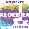 Test Bank for Elementary & Intermediate Algebra Functions and Authentic Applications 3rd Edition by Jay Lehmann