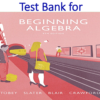 Test Bank for Beginning Algebra 9th Edition by John Tobey, Jeffrey Slater, Jenny Crawford, Jamie Blair