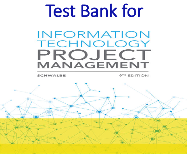 Test Bank for Information Technology Project Management 9th Edition