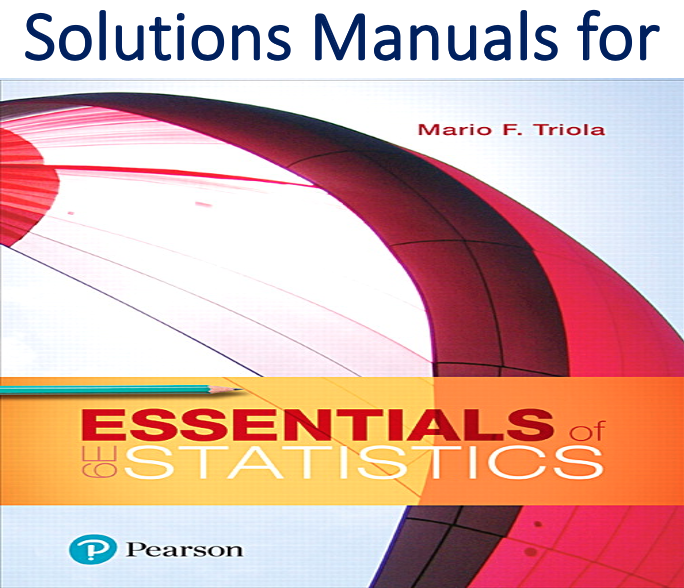 Solutions Manual for Essentials of Statistics 6th Edition