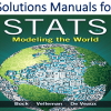 Solutions Manual for Stats Modeling the World 4th Edition by David E. Bock, Paul F. Velleman, Richard D. De Veaux