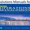 Solutions Manual for Operations Management Sustainability and Supply Chain Management 13th Edition by Jay Heizer, Barry Render, Chuck Munson