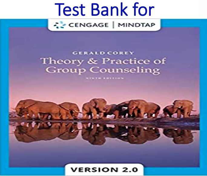 Test Bank for Theory and Practice of Group Counseling 9th Edition