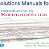 Solutions Manual for Introduction to Econometrics 4th Edition by James H. Stock, Mark W. Watson