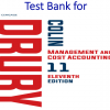Test Bank for Management and Cost Accounting 11th Edition by Colin Drury, Mike Tayles