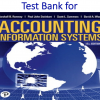 Test Bank for Accounting Information Systems 15th Edition