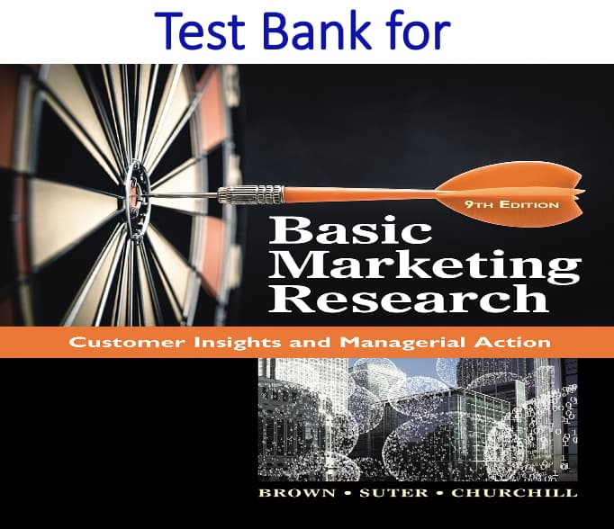 Test Bank for Basic Marketing Research 9th Edition